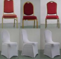 100 White spandex chair covers for rent $1 each