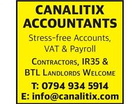 SELF ASSESSMENT CORPORATION TAX RETURNS CIS REFUNDS PAYE PAYROLL VAT HMRC INVESTIGATIONS ACCOUNTANTS