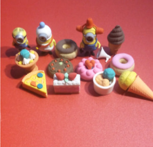 Food Shaped Erasers + Minions Erasers