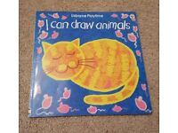 USBORNE PLAYTIME I CAN DRAW ANIMALS BOOK - EXCELLENT CONDITION