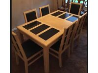 Homebase Georgia 6 person dining table