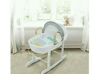 Kinder valley patchwork cars palm moses basket. Brand new 3 left in stock.