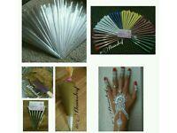 henna cones/ empty henna cones/ acrylic paint cones /Henna powder/ temporary tattoo/ henna/mehndi