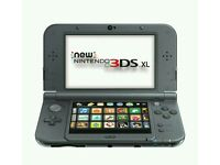 Nintendo 3DS XL (latest model) with pokemon Alpha Sapphire and Mario kart 7