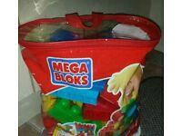 Mega Bloks Bag Of 70 Mega Bloks