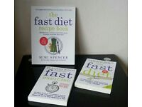 Set of 2 Dr Michael Mosley Fast Diet & Exercise Books & Fast Diet Recipe Book