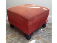 Ikea Dark Orange Fabric Footstool