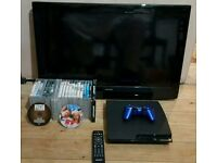 PS3 320GB SLIM-24 GAMES-GOOD CONDITION-24 GAMES-BUNDLE-CHEAP-SWAPS-PX-GTA V 5-FIFA