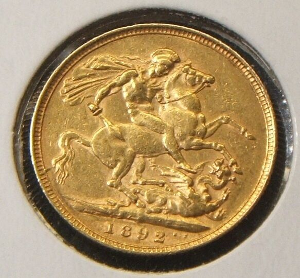 1892-M ~ QUEEN VICTORIA JUBILEE ~ SOVEREIGN GOLD COIN ~ XF-BEAUTY ~ BETTER DATE