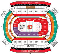 Calgary Flames Playoff Tickets! Dead Centre Ice! Pl 5 Row 5