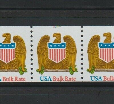 US EFO, ERROR Stamps: #2603 Eagle Shield Bird. #@ top miscut PS7 #22222, PNC MNH