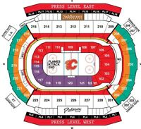 Calgary Flames NHL Tickets. Chrysler Club Row 1 Section 217