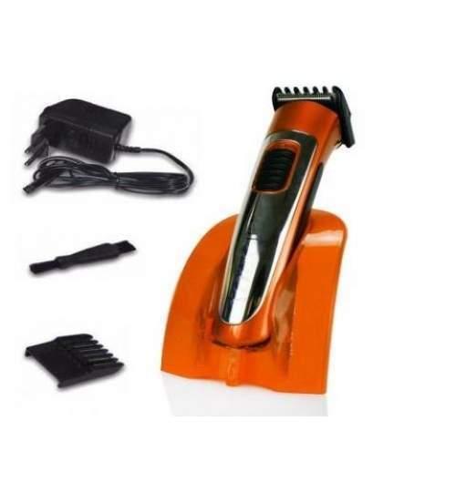 Nova RF-6061 Professionele Oplaadbare haar & baard trimmer orange oranje