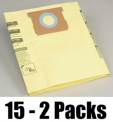 15 ea Shop-Vac 90671-33 2 Packs 5-8 Gallon Drywall Fine Dust Vacuum Filter Bags