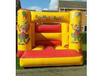 12×12 foot clown bouncy castle inflatable commercial castle