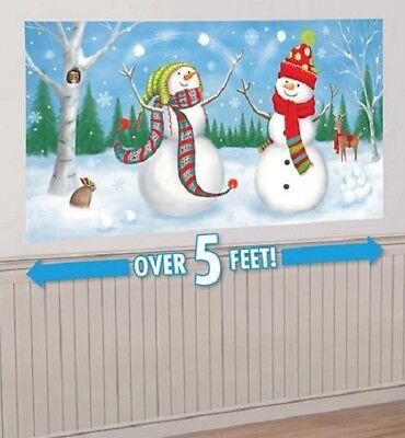 CHRISTMAS WHIMSICAL SNOWMEN SCENE SETTER FROZEN WINTER WONDERLAND PARTY SNOWMAN