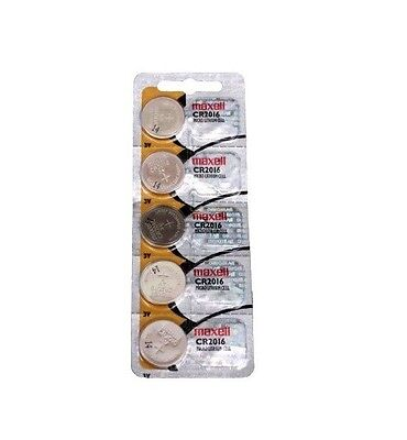 Maxell CR2016 2016 Lithium 3V Batteries 1 pack of 5 (Made in Japan)