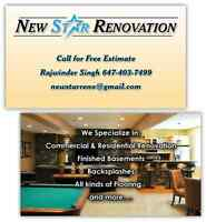 new star renovation free estimate call 647 403 7499