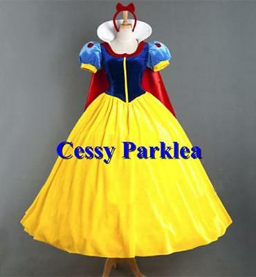 F4-3  Girls Deluxe Snow Princess Snow White Cartoon Character Dress Up Costume