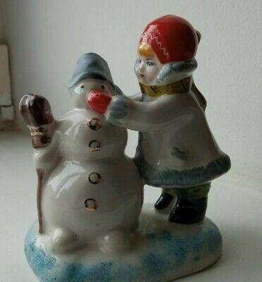 Vintage ceramics set of 4 figurine mini hares Porcelain rabbit Gzhel Soviet Union Russian ceramics statuette Vintage condition collectibles