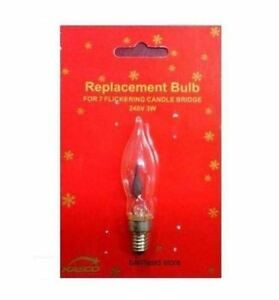 XMAS ARCH BRIDGE CANDLE LIGHT REPLACEMENT SPARE FLICKERING BULBS  240V 3W E10