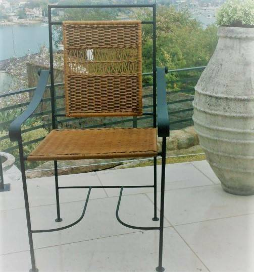 Dining Chairs Iron And Wicker Outdoor 47 Indoor Other Furniture Gumtree Australia Hunters Hill Area 1195175591