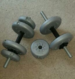 Dumbells with 12 weights