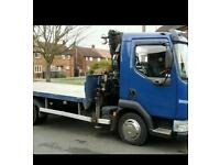 7.5 Ton Flatbed with Hiab / Atlas Crane.