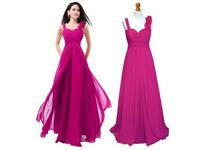 New Magenta Pink Bridesmaid Dress x 2