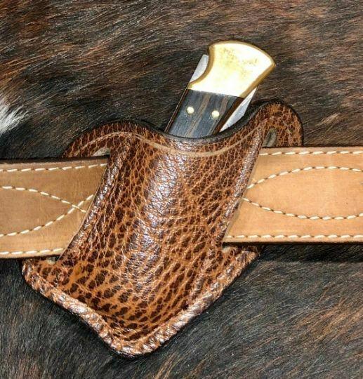 Knife Sheath; Buck #110/112 - Water Buffalo