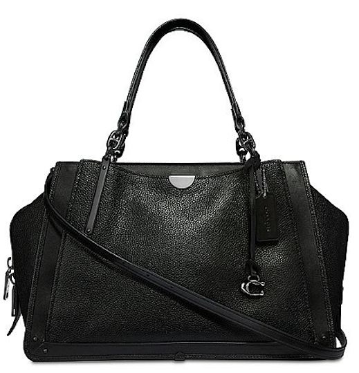 Coach Dreamer Black-Silver 36 Crossbody Satchel Bag