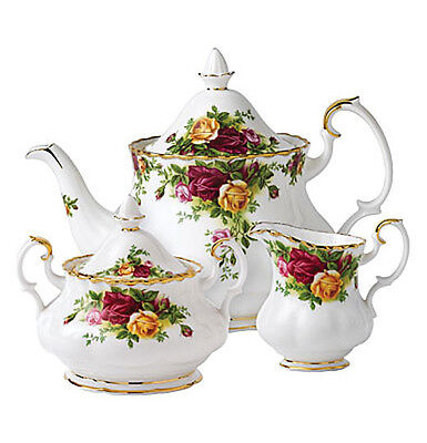 Royal Albert OLD COUNTRY ROSES 3 Pc TEA SET TEAPOT - NEW IN BOX!