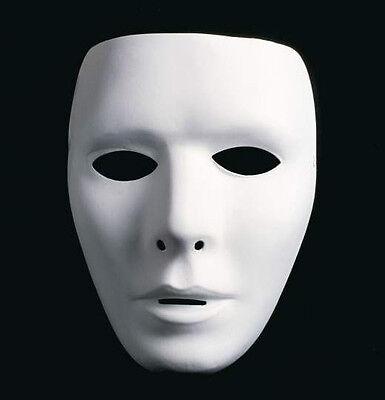 Weiße Neutralmaske - Männlich / Venezianische Maske Mann, Domino, Karneval ()