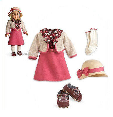 "American Girl KIT'S SCHOOL SKIRT SET for 18"" Dolls Dress Clothes Outfit NEW"