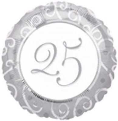 (3) Three- 25th Wedding Anniversary Mylar Balloons- Choice #3 (25th Wedding Anniversary Balloons)