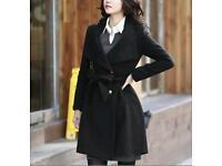Ladies Lightweight Black Coat for Spring, size 8-10