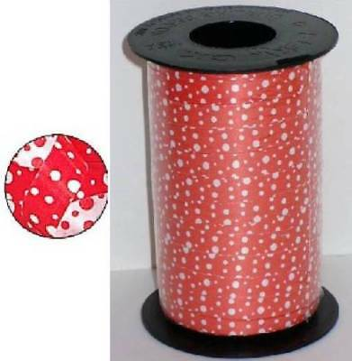 Black Curling Ribbon (3 ROLLS OF RED & 3 ROLLS BLACK -750ft 3/8  REVERTIBLE DOTS CURLING RIBBON)