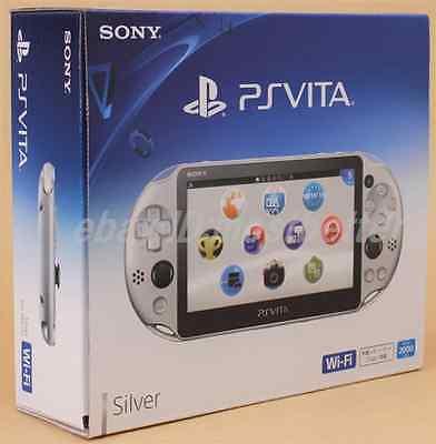 Ps Vita Pch 2000 Za25 Silver Wi Fi Console Sony Playstation