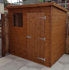 garden shed heavy duty 5x4 fully tg