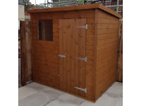 GARDEN SHED HEAVY DUTY 7X5 FULLY T&G.TOP QUALITY PENT