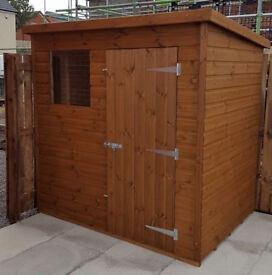 garden shed heavy duty 10x6 fully tg
