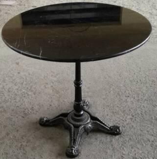 Dining Table Stunning polished Black Granite 80cm wide DELIVERED