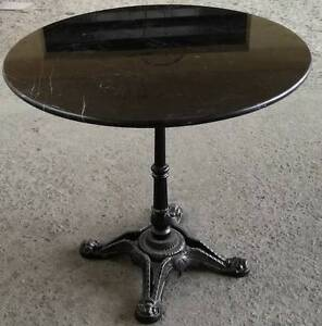 Round Black Granite top table 80cm wide FREE DELIVERY in Sydney Woollahra Eastern Suburbs Preview