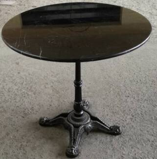 Round Black Granite top table 80cm wide FREE DELIVERY in Sydney