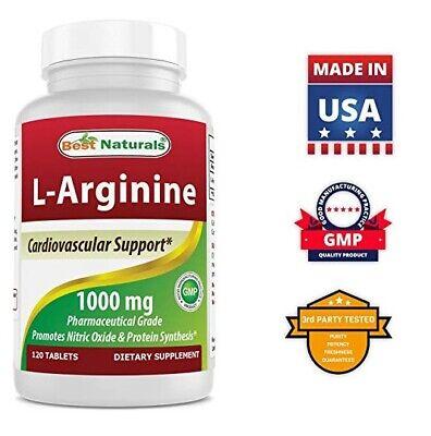 Best Naturals L-Arginine 1000 mg 120 Tablets  Pharmaceutical Supplement