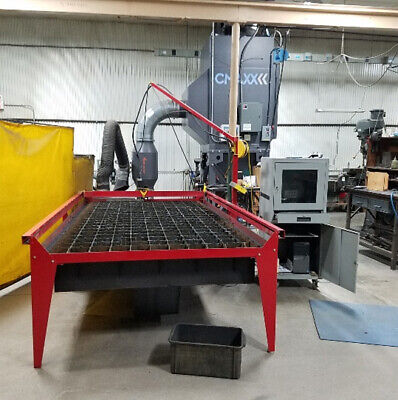 Used Plasma Cam 510 5x10 Travel Plasma Cutter 34 Thick Capacity Wcollector