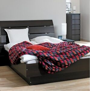 Queen size Brondby bed frame - black