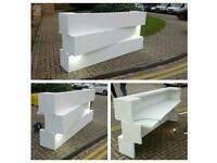Desk reception counter large white office salon Chairs Backwash Basin Unit