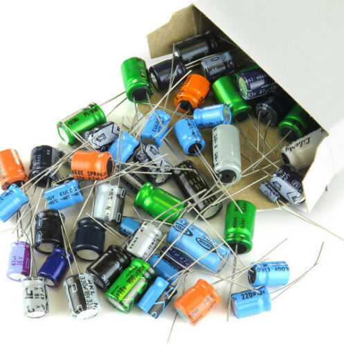 500 pieces Capacitor Assortment Grab Bag of Various Brands, Values and Sizes