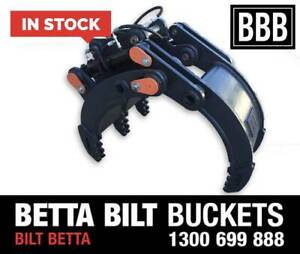 BETTA BILT BUCKETS EXCAVATOR GRAB HYDRAULIC GRAB 3 - 50 TONNE Sydney Region Preview